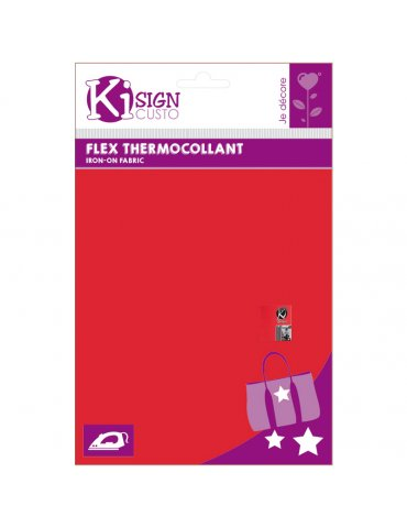 Flex thermocollant rouge mat Ki-Sign