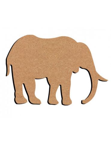 Support bois - Eléphant 15cm