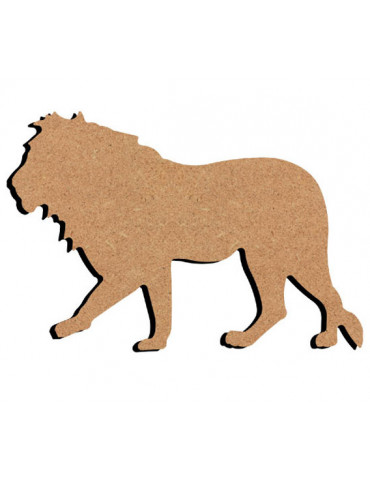 Support bois - Lion 15cm