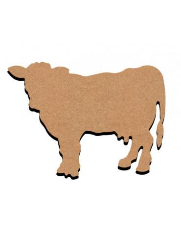 Support bois - Vache 15cm