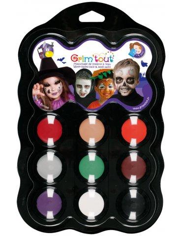 Palette  maquillage GRIM'TOUT 9 couleurs Maléfice