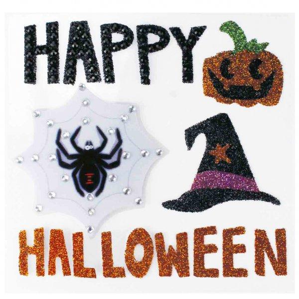 Stickers Halloween pailletés 3 à 6cm - 5 pièces