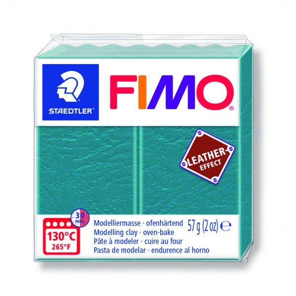 Fimo Effect cuir Turquoise (8010-369) - 57g
