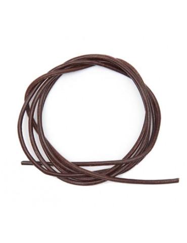Cordon cuir brun foncé 1mm...