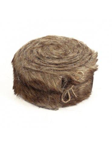 Rouleau tissu fausse fourrure Brun clair - 6cm x 2m