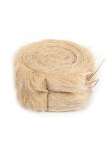 Rouleau tissu fausse fourrure Beige - 6cm x 2m