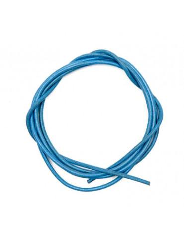 Cordon cuir bleu clair 1mm...