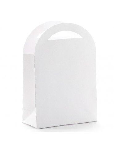 Sachet 6 petits sacs cadeau kraft blanc - 7x10cm - Graine Créative