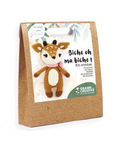 Kit crochet - Biche oh ma Biche ! - Graine Créative - 17cm