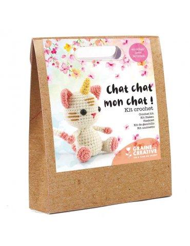 Kit crochet - Chat chat mon chat ! - Graine Créative - 15cm