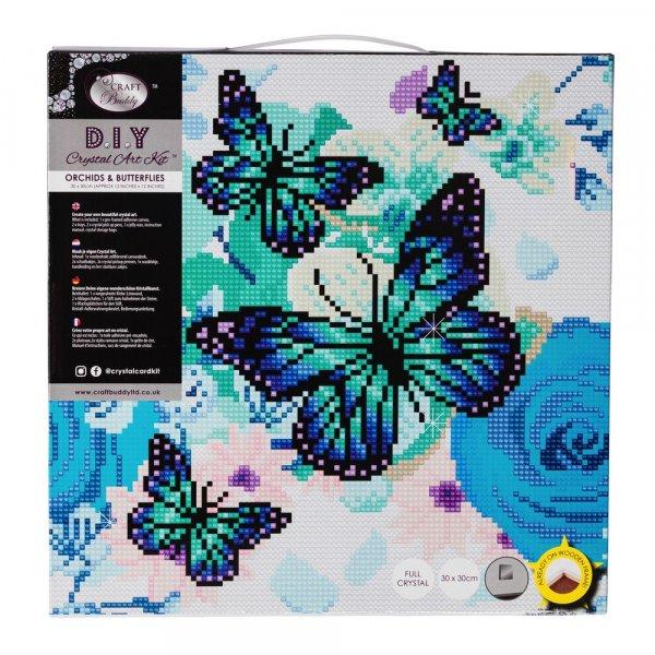 Kit broderie diamant Crystal Art Papillons - 30x30cm