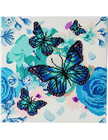 Kit broderie diamant Crystal Art Papillons - 30x30cm