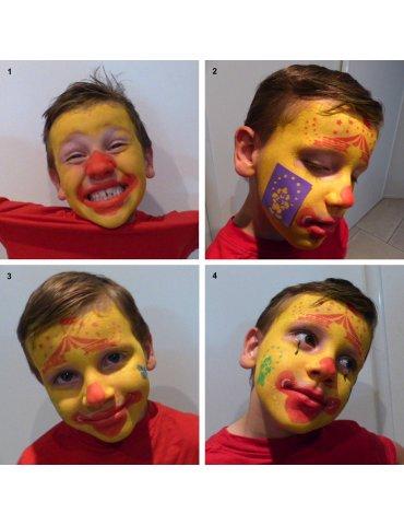 Pochoir maquillage Circus (cirque) - Grim'tout