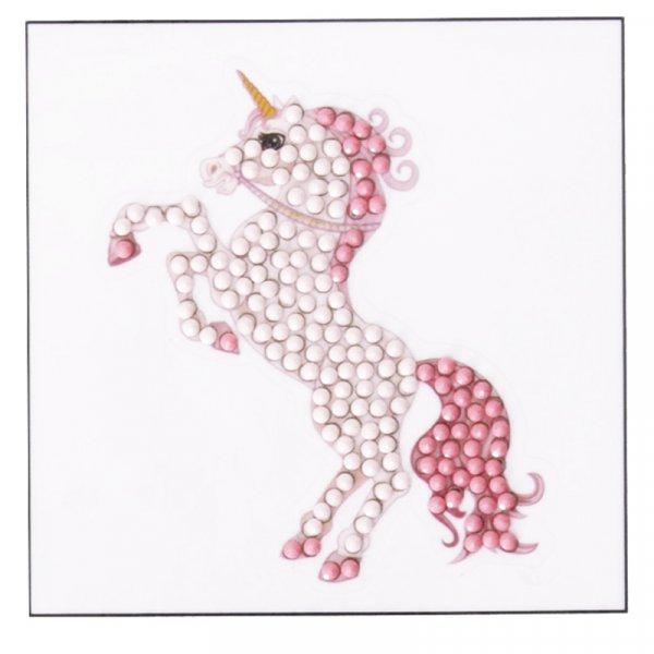 Kit Sticker broderie diamant Licorne 9x9cm - Crystal Art