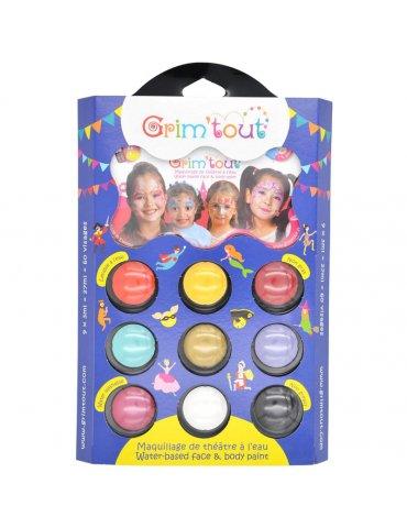 Palette maquillage GRIM'TOUT 9 couleurs Princesse