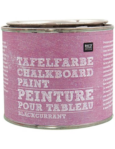 Peinture ardoise Cassis (Blackcurrant) Rico Design - Pot 250 ml
