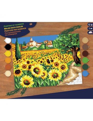 Peinture au numéro Village du Lubéron - 30x40cm
