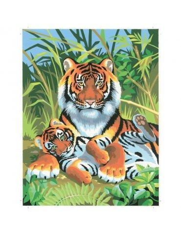 Peinture numéro débutant - Tigres
