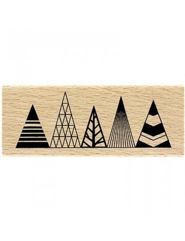 Tampon bois Sapins Géométriques - Florilèges Design