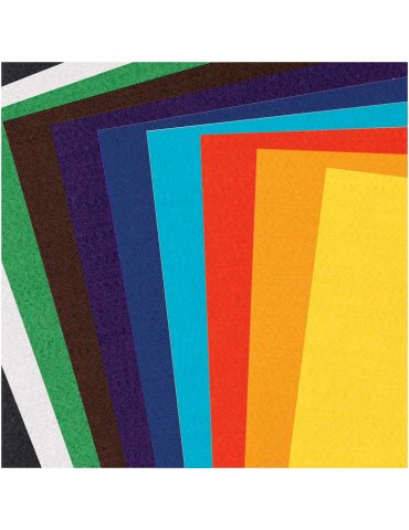 Assortiment Feutrine 1mm Basic 20x30cm - 10 coupons Rico Design