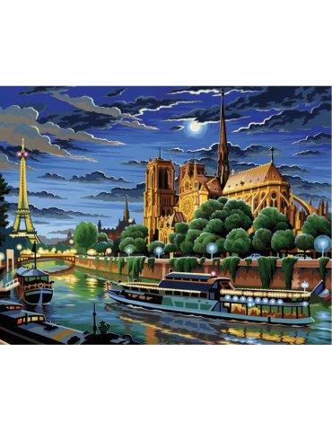Kit peinture numéro Notre Dame de Paris - Peinture à l'acrylique - Niveau Initié