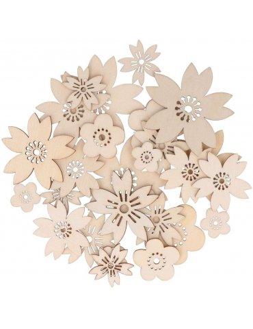 Assortiment 30 silhouettes Fleurs Japan - Artemio