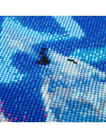 Kit broderie diamant Loups crépuscule - Tableau Crystal Art 40x50cm