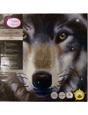 Kit Broderie diamant Loup -...