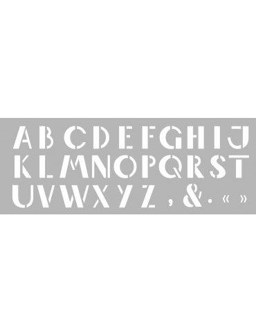 Pochoir Alphabet ATELIER...