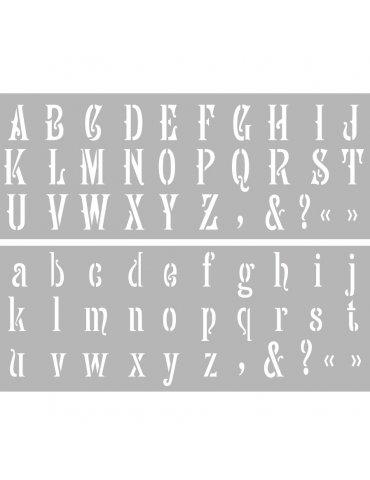 Pochoir Alphabet n°3 Graine Créative Pochoirs lettres majuscules & minuscules - 15x40cm - GRAINE CREATIVE
