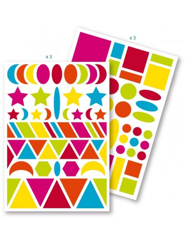 Set 282 Gommettes Baby géométriques Maildor - 6 planches