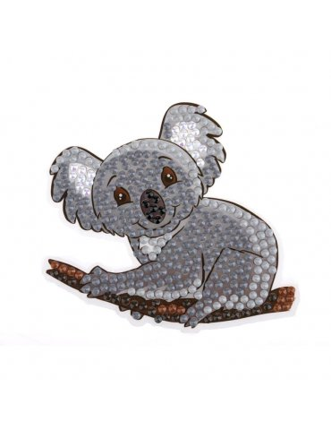 Kit Sticker broderie diamant Koala 9cm - Crystal Art