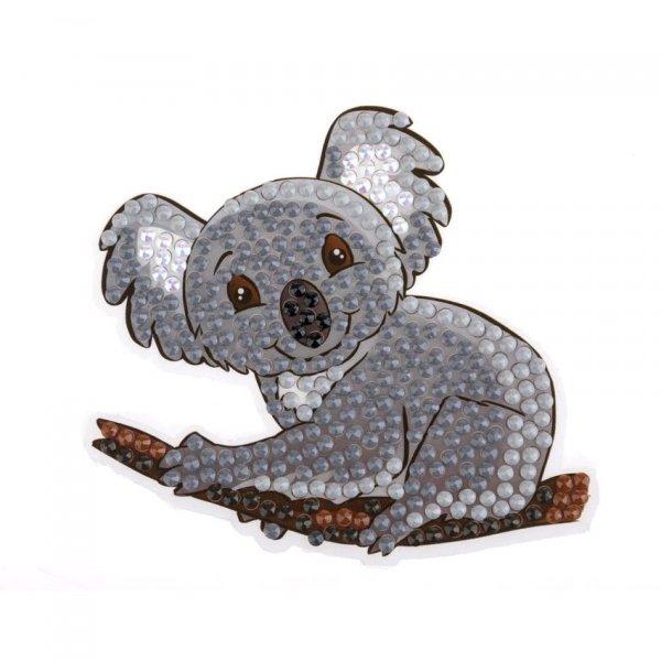 Kit Sticker broderie diamant Koala 9cm - Crystal Art