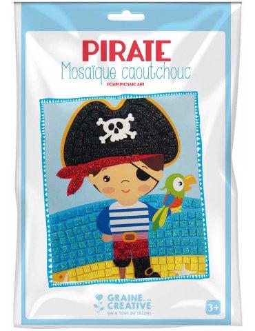 Kit mosaïque mousse caoutchouc souple Pirate - Graine Créative - 3 ans+