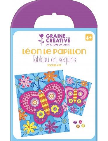 Kit tableau sequins Papillon - Graine Créative - 4 ans+