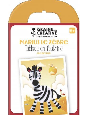 Kit tableau en feutrine Zèbre - Graine Créative - 6 ans+