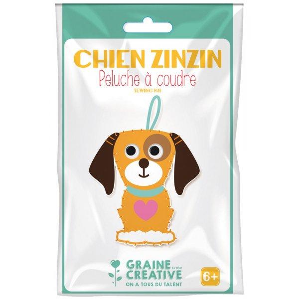 Kit Peluche feutrine à coudre Chien Zinzin - Kit couture facile Graine Créative - 6 ans+