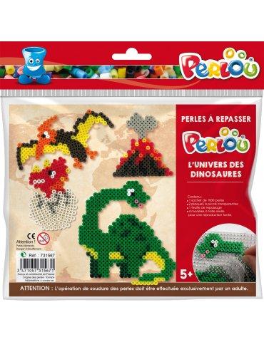Kit Perlou Dinosaures - Kit perles à repasser 5 ans+