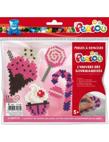 Kit Perlou Monstres - Kit perles à repasser 5 ans+