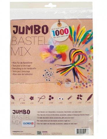 Set activités manuelles Jumbo Bastel Mix +1000 accessoires - Glorex