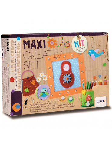 Kit créatif enfant - Maxi creativ set - 114 accessoires - Glorex