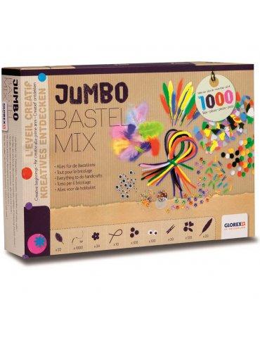 Kit créatif enfant - Jumbo Bastel Mix +1000 accessoires - Glorex