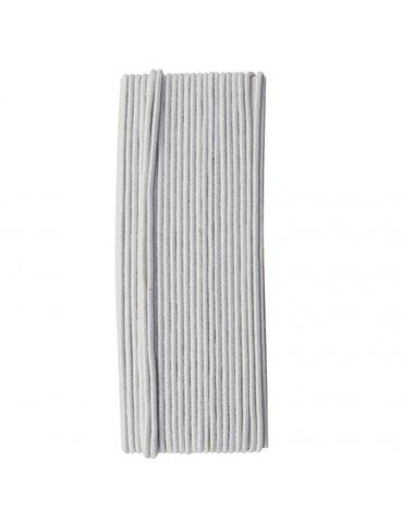 Cordon élastique  blanc 1,5mm x 5 mètres - Tout A Créer