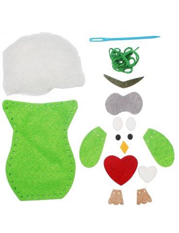 Kit couture feutrine enfant - Hibou vert Ozzy