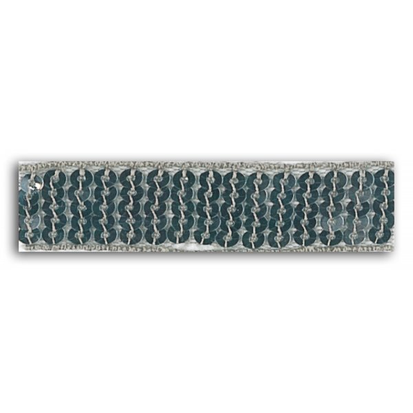 Ruban sequins thermocollant Argent (2,4cm x 1,3m) - Mademoiselle Toga