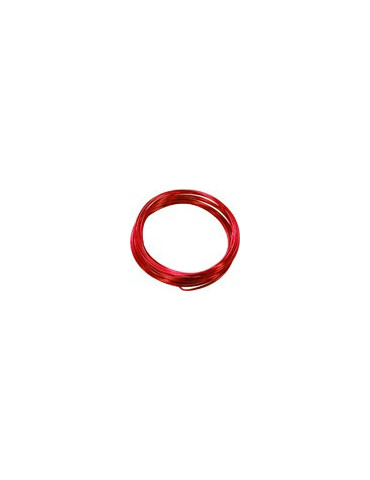 Fil aluminium rouge - 2,5mm