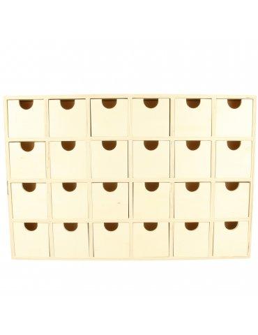 Calendrier de l'Avent en bois à décorer Artemio - Forme Rectangulaire - 30x20cm