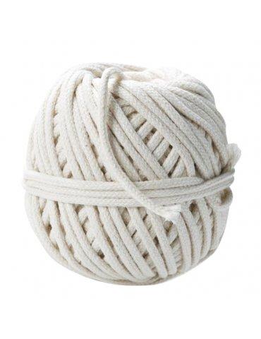 Pelote coton tressé 4mm blanc - 200gr - Graine Créative