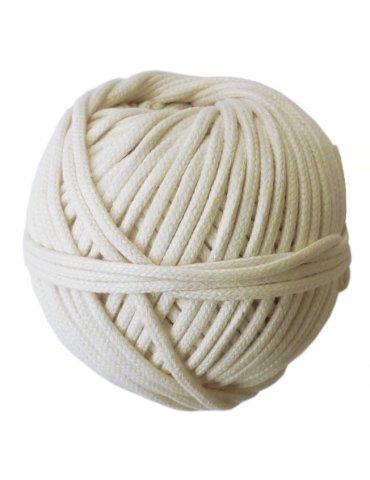 Pelote coton tressé macramé blanc 3 mm - 200gr - Graine Créative