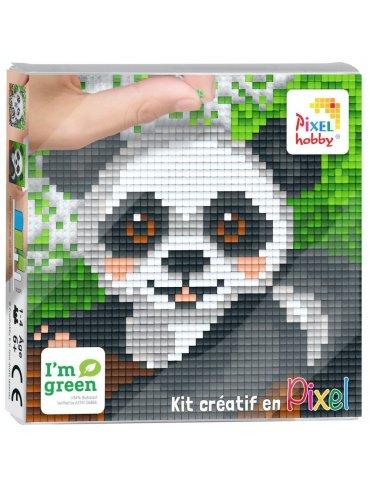 Kit créatif PIXEL - Tableau Panda - 12x12cm - Pixel Hobby